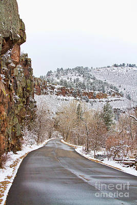 Photograph - Red Rock Winter Drive by James BO  Insogna