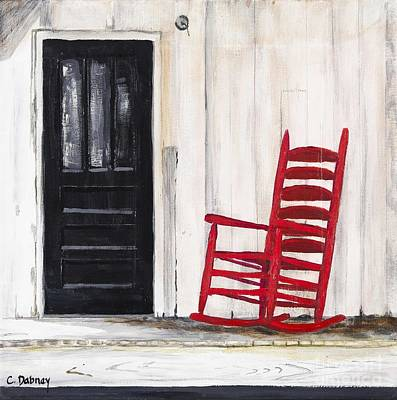 Painting - Red Rocker by Carla Dabney