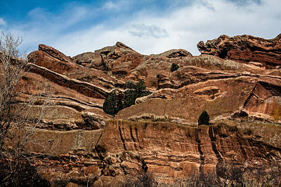 Photograph - Red Rocks 1 by Karen Saunders