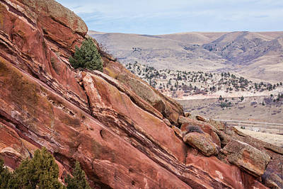 Photograph - Red Rocks 2 by Karen Saunders