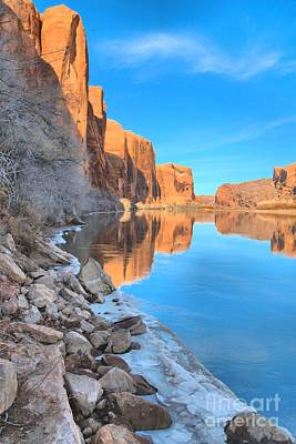 Photograph - Red Rocks Above The Green River by Adam Jewell