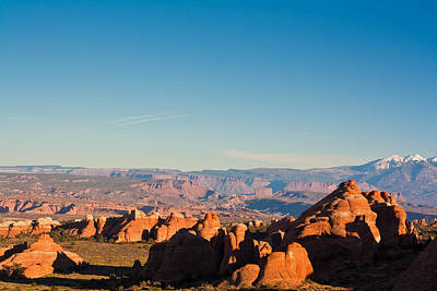 Red Rocks And The La Sal's Art Print
