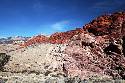 Photograph - Red Rocks In Nevada by John Rizzuto