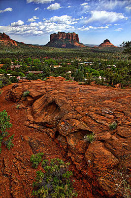 Photograph - Red Rocks In Sedona No 1 by Dave Garner