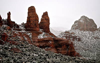 Aromatherapy Oils - Red Rocks in Snow by Susan Chesnut