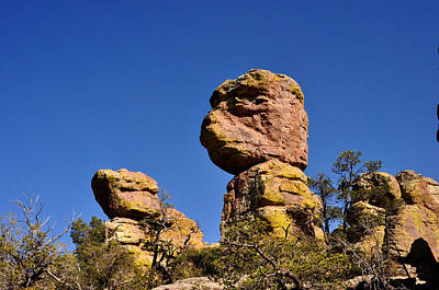 Art Print featuring the photograph Red Rocks In The Chiracahua Mountains by Diane Lent
