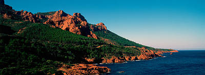 Cote Dazur Photograph - Red Rocks In The Late Afternoon Summer by Panoramic Images