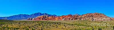 Photograph - Red Rocks Mountains - Panorama by Eve Spring