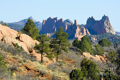 Steven Krull Royalty-Free and Rights-Managed Images - Red Rocks Open Space by Steven Krull