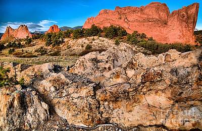 Photograph - Red Rocks Over White by Adam Jewell