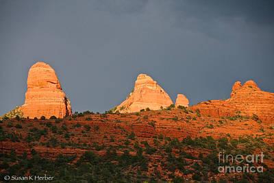 Photograph - Red Rocks Sundown by Susan Herber