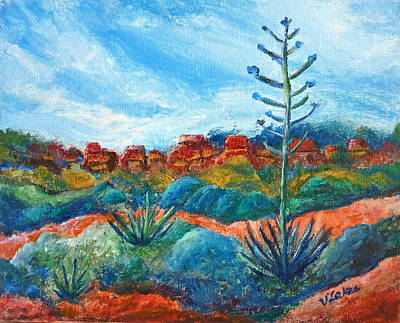Painting - Red Rocks by Victoria Lakes