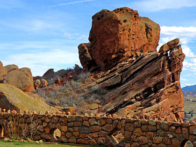 Photograph - Red Rocks Wall by George Tuffy