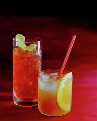 Alcoholic Drink Photograph - Red Rocktails by Romulo Yanes