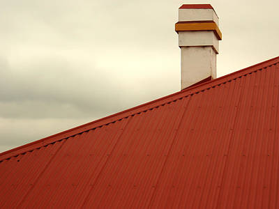 Red Roof Print by Kaleidoscopik Photography
