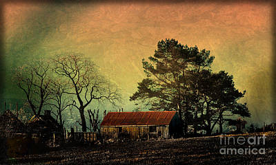 Photograph - Red Roof Landscape by Liz  Alderdice