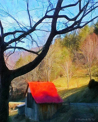 Painting - Red Roof by Melody McBride