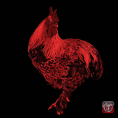 Painting - Red Rooster 3166 F by James Ahn