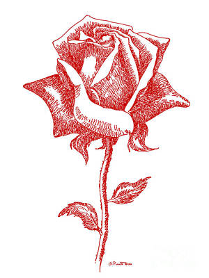 Digital Art - Red Rose Art 1 by Gordon Punt