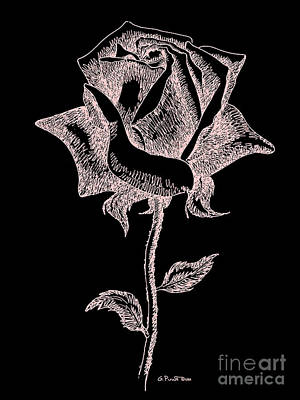 Digital Art - Red Rose Art 3 by Gordon Punt
