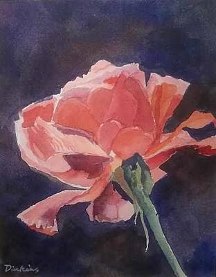 Painting - Red Rose by Dill Dinkins