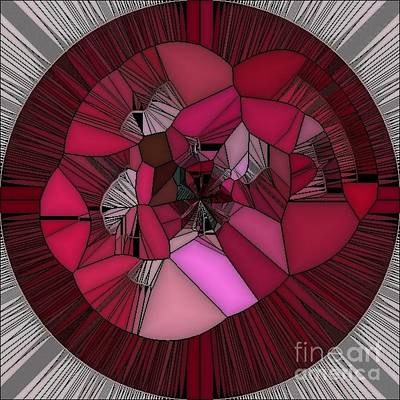 Digital Art - Red Rose In The Heart by Eva-Maria Di Bella