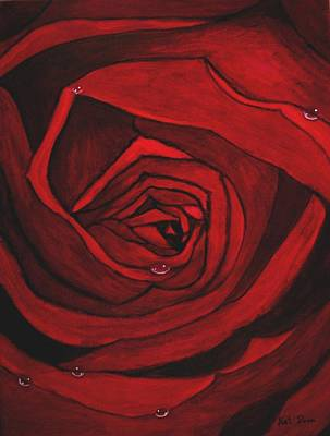 Painting - Red Rose  by Kat Poon