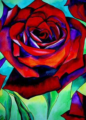Red Rose Macro 2 Art Print by Sacha Grossel
