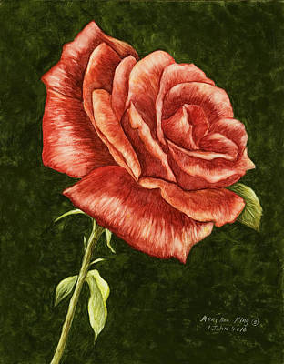 Painting - Red Rose by Mary Ann King