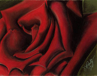Painting - Red Rose by Michael Foltz