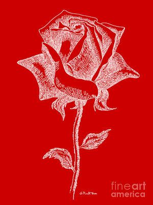 Painting - Red Rose Paintings 18 by Gordon Punt