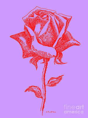 Digital Art - Red Rose Prints 14 by Gordon Punt