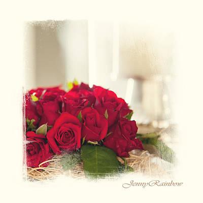 Red Rose Wish. Elegant Knickknacks From Jennyrainbow Art Print by Jenny Rainbow