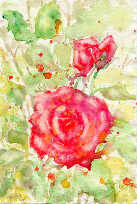 Painting - Red Rose by Yumi Kudo