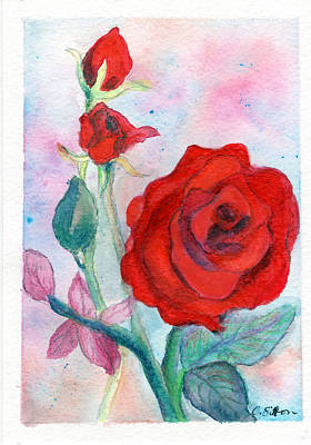 Painting - Red Roses by C Sitton