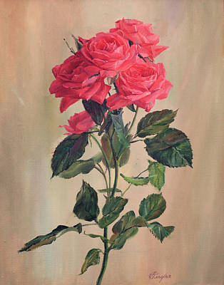 Painting - Red Roses by Galina Gladkaya