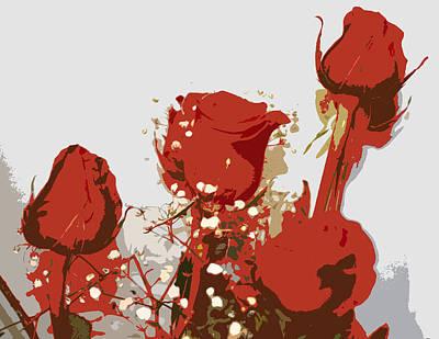 Red Roses Art Print by Karen Nicholson