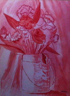 Flower Still Life Mixed Media - Red Roses by Mary Ann Latter