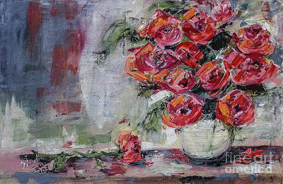 Painting - Red Roses Still Life by Ginette Callaway