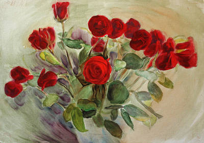 Red Roses Art Print by Tanya Byrd