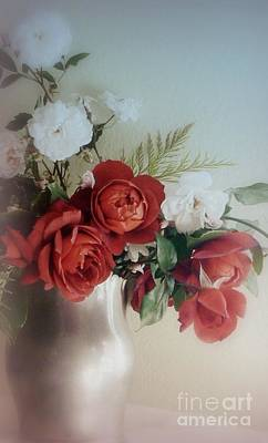 Photograph - Red Roses With Blue by Diana Besser