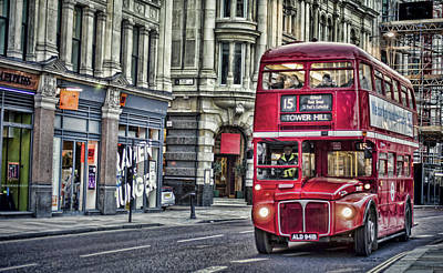 Photograph - Red Routemaster by Heather Applegate