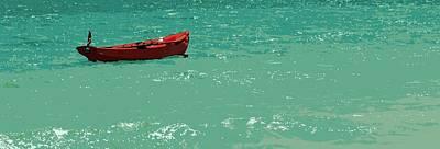 Row Boat Digital Art - Red Row by Tg Devore