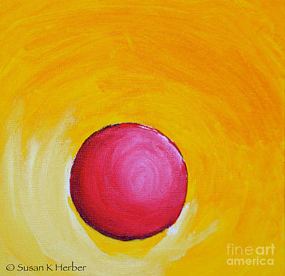 Painting - Red Rubber Ball by Susan Herber