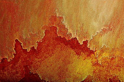 Photograph - Red Rust - Modern Contemporary Abstract Art By Kredart by Serg Wiaderny