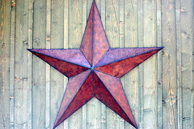 Photograph - Red Rusted Star by Holly Blunkall