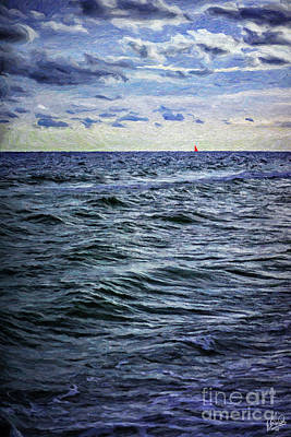 Painting - Red Sail 2 by Walt Foegelle