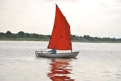 Red Sails Art Print by Bob Sample