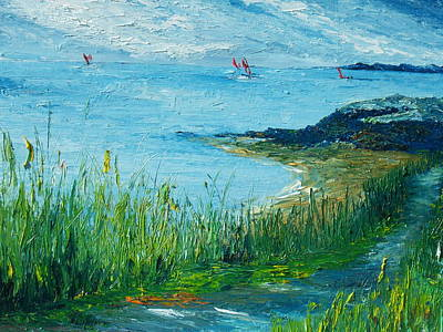 Painting - Red Sails In Galway Bay by Conor Murphy