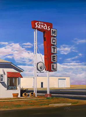 Hopper Wall Art - Painting - Red Sands by Karl Melton